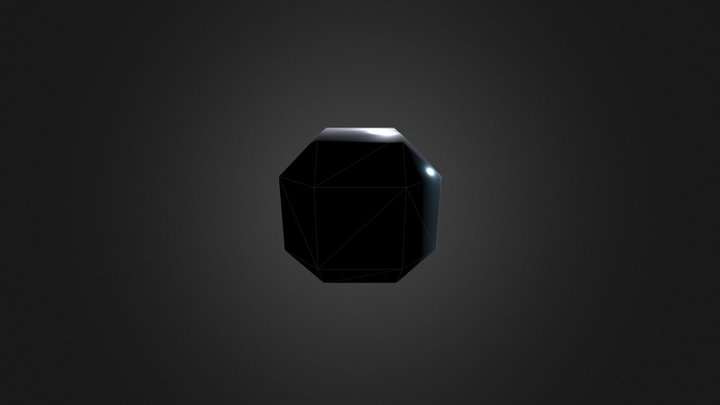 Cubo Facetado 3D Model