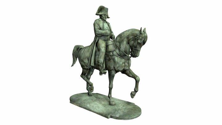 Sculpture of Napoléon by E. Frémiet 3D Model