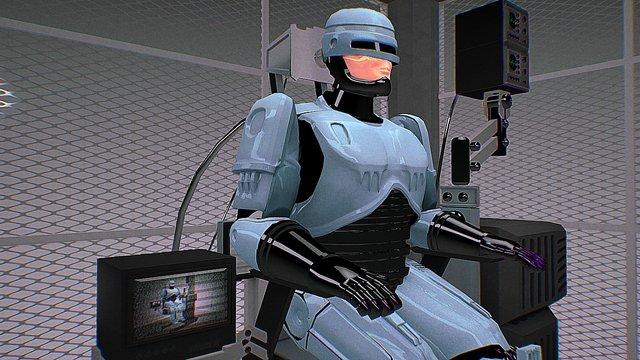 "Robocop ""Mechanical Chair"" scene 3D Model"