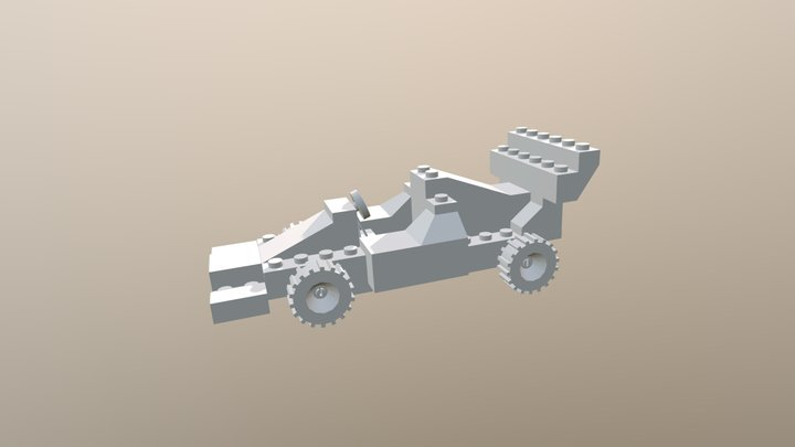 Overview - Lego Car Toy 3D Model