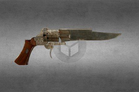 Pistolet Noj 3D Model