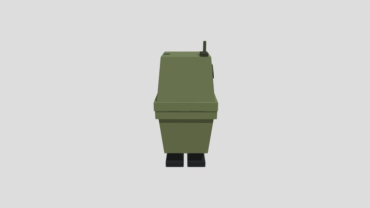 Droid Turn Animation 3D Model