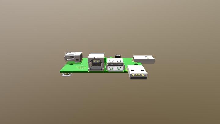 USB- Tester 3D Model