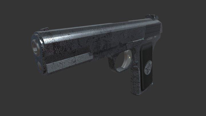 Tulski Tokarev Pistol 3D Model