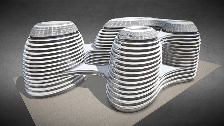 Galaxy Soho - Beijing (CHINA) 3D Model