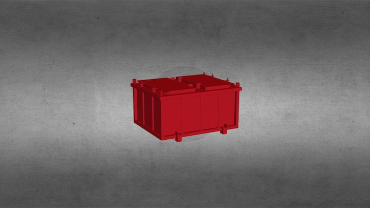 mud cuttings boxes 3D Model