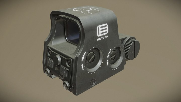 EOTech XPS2-300 Blackout Holographic WeaponSight 3D Model