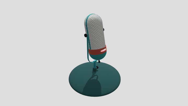 Wireless microphone on stand 3D Model