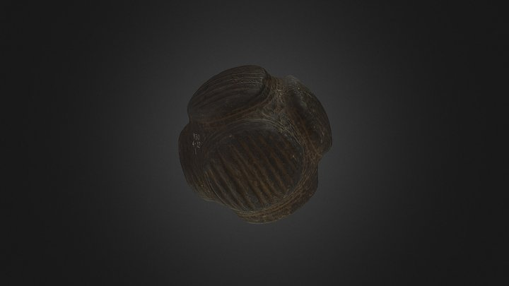 Carved Stone Ball draft 3D Model