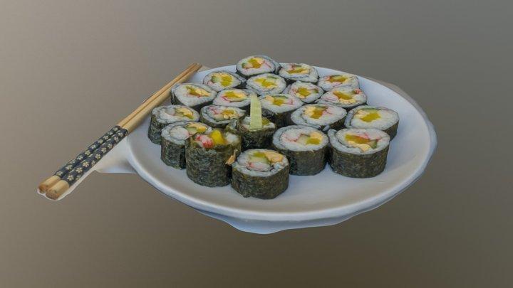 Gim-bab (Korean sushi) 3D Model