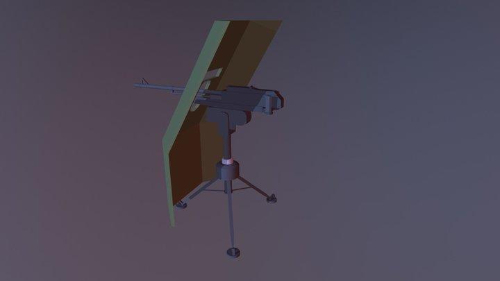 KORD mounted machine gun w/ shield 3D Model