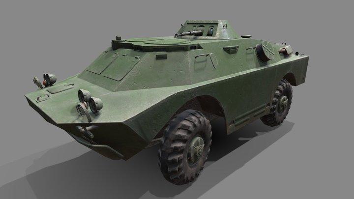 Brdm2 low poly 3D Model