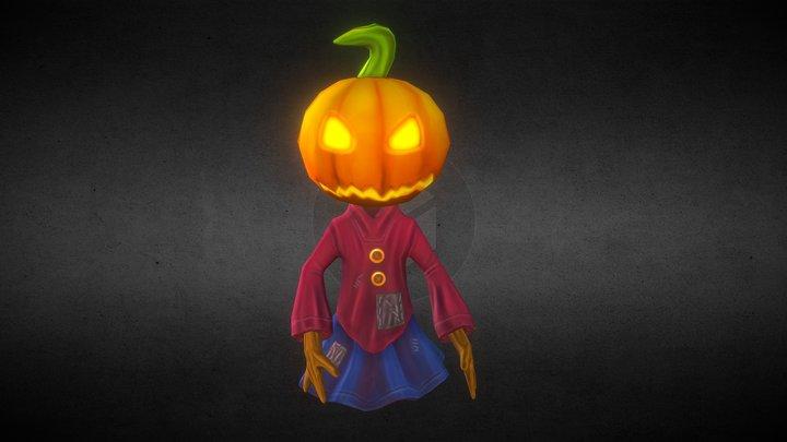 Scary Pumpkin 3D Model