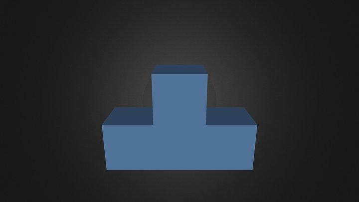 Blue Puzzle Piece 3D Model