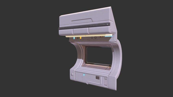 Sci- Fi Window 3D Model