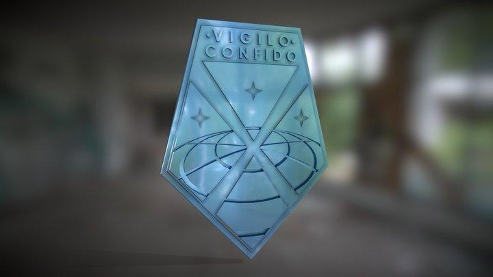 XCOM Badge Vigilo Confido 3D Model
