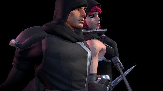 Overpower - Assassins 3D Model