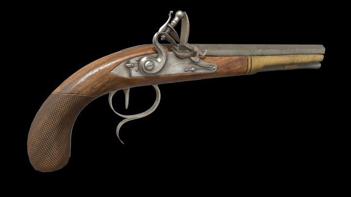 Dueling Pistol 3D Model