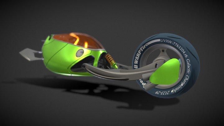 CycleJet - Interrobang Racer 3D Model