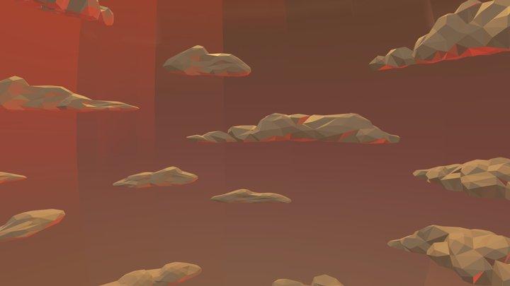 Star Wars - Low Poly Tatooine Skybox 3D Model