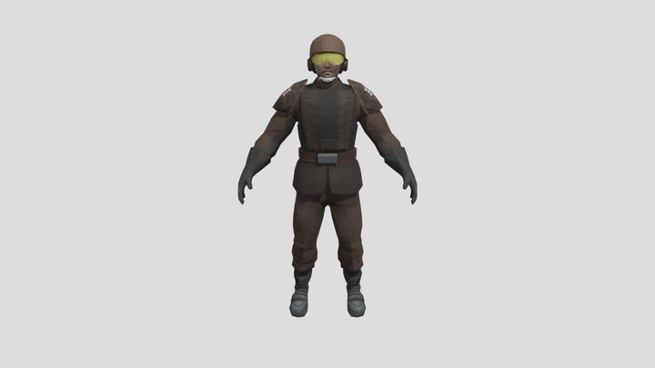 Corporate Sectory Authority Espos Soldier 3D Model