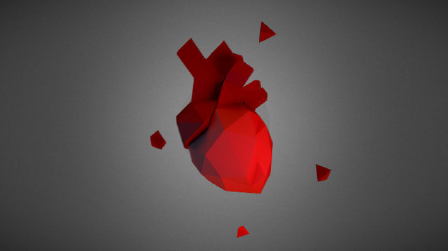 Lowpoly heart - Loveless 3D Model