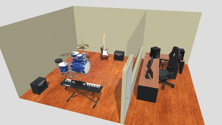 Rehearsal Room | Diorama 3D Model