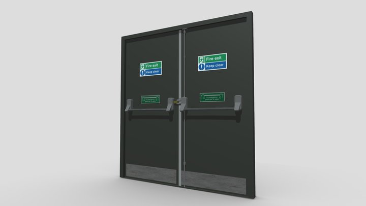 Fire Escape / Exit Doors 3D Model