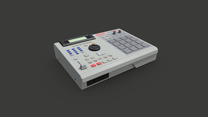 Akai MPC2000XL 3D Model