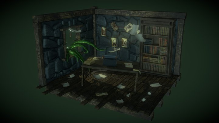Home of HP Lovecraft 3D Model