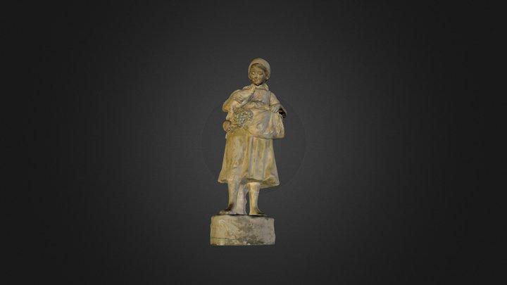 3D Scan Statue Goosemadien 3D Model