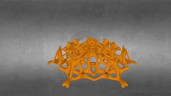 Cardon Pendant Silver Gold  3D Model