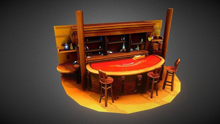 Wild West BlackJack 3D Model