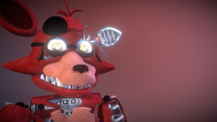 Withered-foxy 3D Model