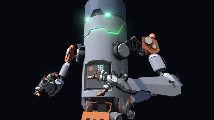 Cylinder-Bot 3D Model