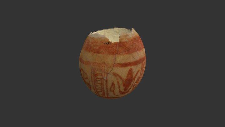 Huevo de avestruz decorado púnico 3D Model