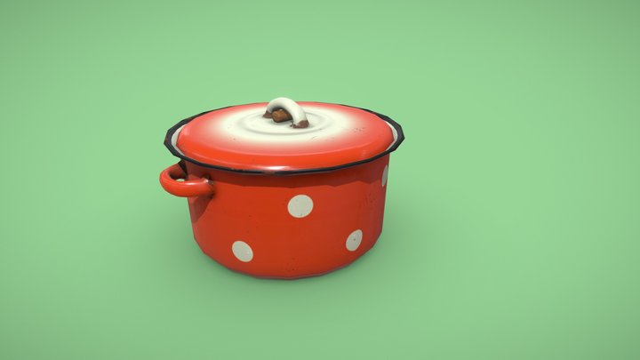 Dotted Pan 3D Model
