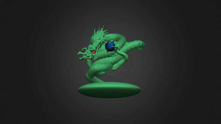 One Punch Man - Dragão escultura 3D 3D Model