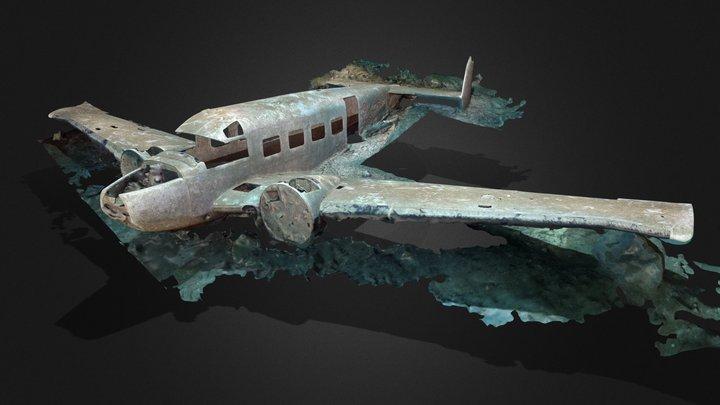 Sunken plane in the Morrison Quarry 3D Model