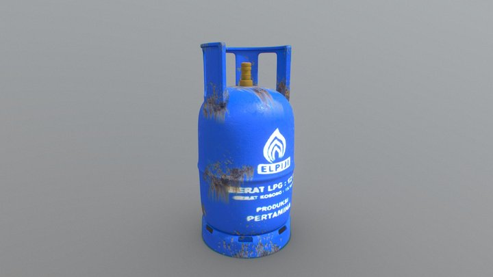 Indonesian LPG Cooking Gas Cylinders 12 Kg 3D Model