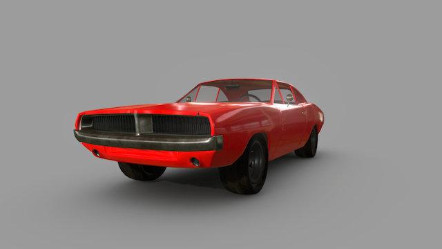 1969 Dodge Charger 3D Model