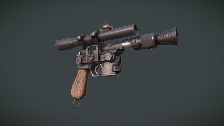 DL-44 heavy blaster pistol / Han Solo 3D Model