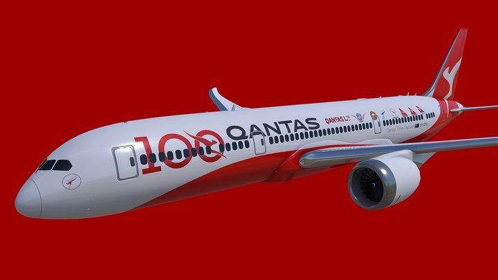 Boeing 787-9 Qantas Centenary 3D Model