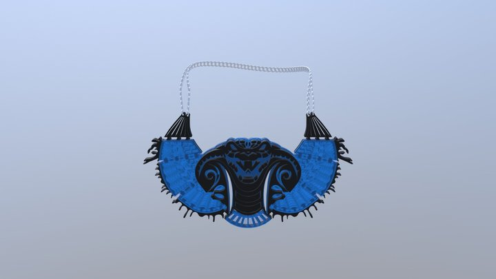 Cobra necklace ting 3D Model