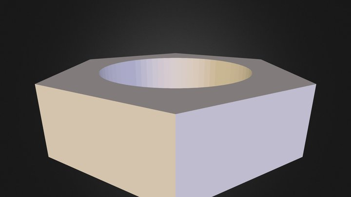 Nmagerko Hex Nut 3D Model