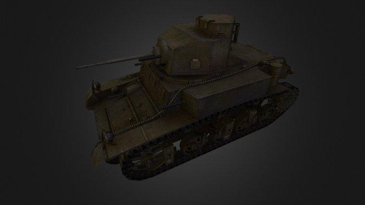 A03 M3 Stuart 3D Model