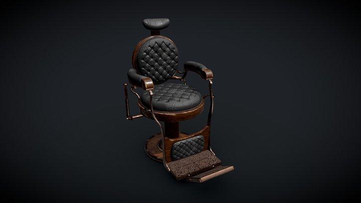 Barber Chair 3D Model