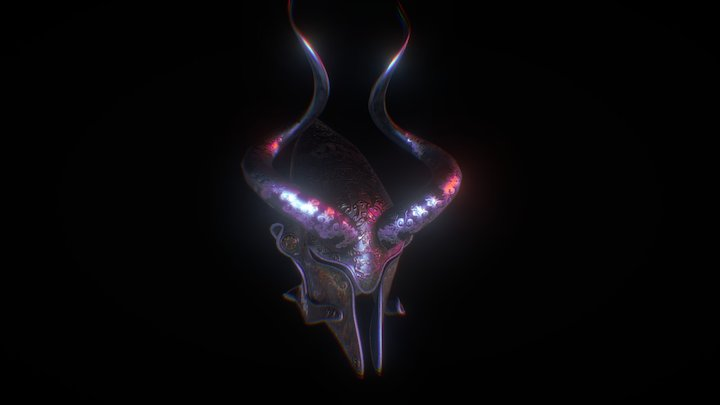 The Vampire's Helmet 3D Model