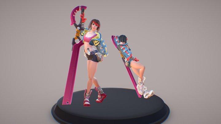 Ryuko Matoi - Kill la Kill Redesign 3D Model
