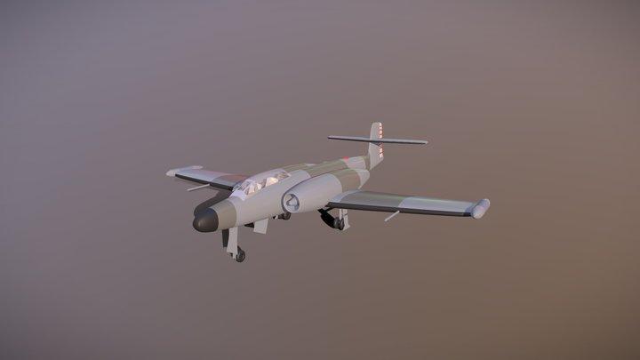 Avro Canada CF-100 (free model) 3D Model